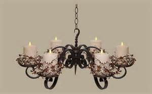 candle chandeliers non electric modern interior design non electric pillar wrought iron candle chandeliers design