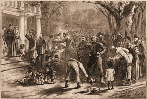 planter s house arrival of a federal column at a planter s house in dixie daily observations from the civil war