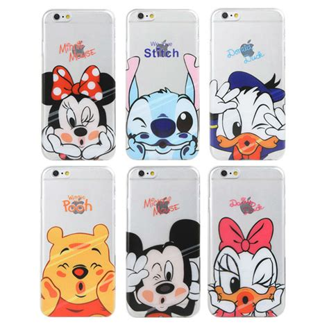Softcase List Mickey Minnie Mouse Soft Cover Casing Iphone 4 4s mickey minnie mouse donald duck pooh soft for iphone 5 5s 5se 6 6s 4 7inch