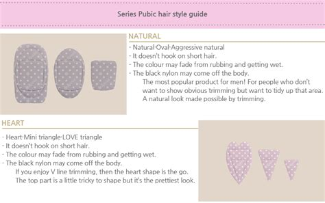 pubichair dressing ravia patrich pubic hair style guide 1pc 4 types to