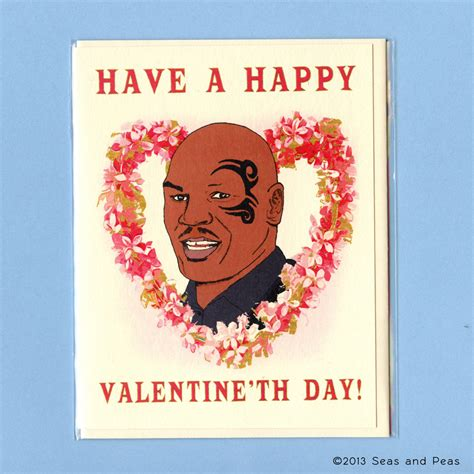 dumb valentines day cards mike tyson card