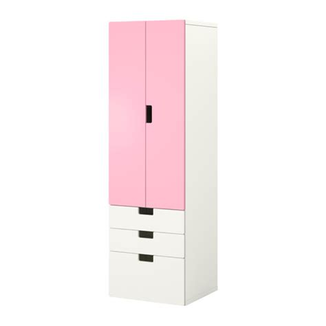 ikea stuva kleiderschrank stuva storage combination w doors drawers white pink ikea