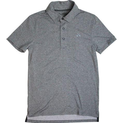 Gray Shirt rock shop mens black label performance polo grey