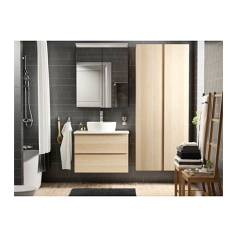 Godmorgon Bathroom Cabinet by Godmorgon High Cabinet White Stained Oak Effect 40x30x192