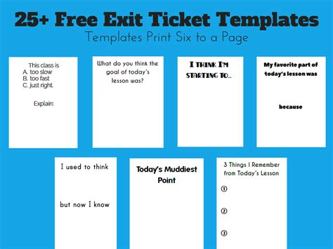play ticket template exit ticket template cyberuse