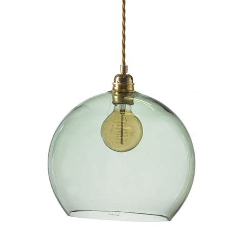 Green Glass Pendant Lights Traditional Forest Green Glass Globe Ceiling Pendant Dimmable