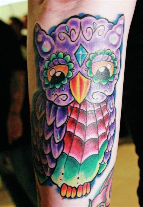 colorful owl tattoos best 25 colorful owl ideas on owl tat