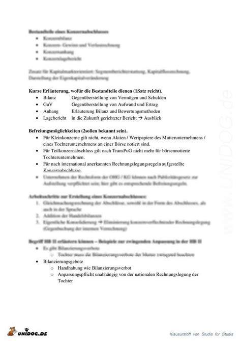 Unidog Klausurvorbereitung Bank Rechnungswesen