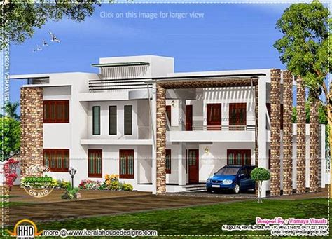 4 bhk modern flat roof home in 2160 sq ft kerala home design and floor plans modern flat roof house with 4 bhk