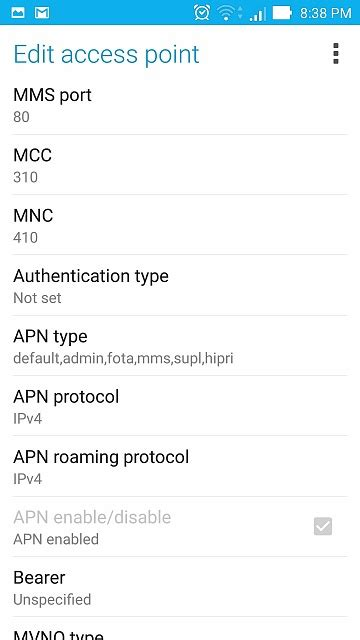 talk apn settings android working apn settings for talk at t android forums at androidcentral