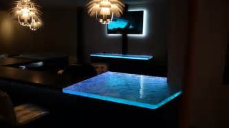 inspired led color changing rgb illuminated glass counter