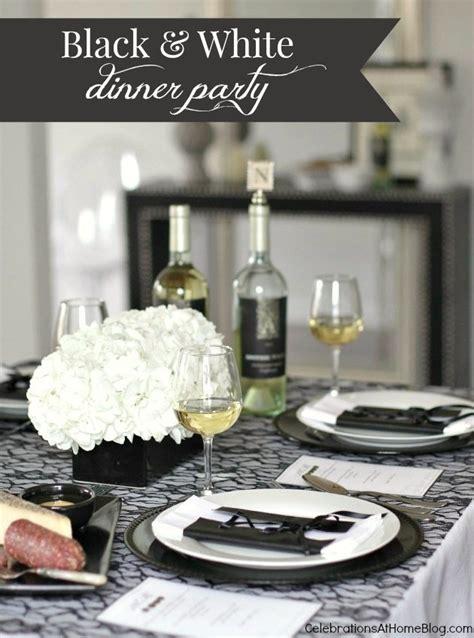 black dinner black white dinner celebrations at home