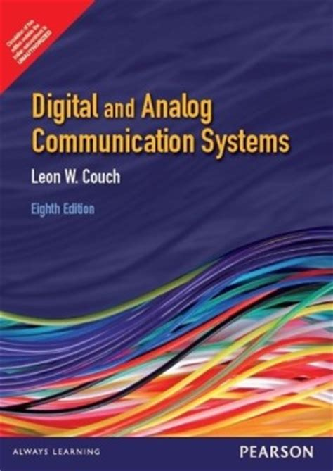 digital and analog communication systems couch buy digital analog communication systems 8th edition at