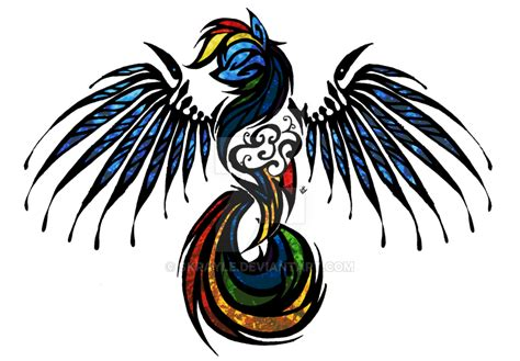 rainbow dash tattoo rainbow dash stained glass tribal tat by skrayle on deviantart
