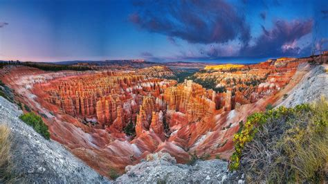 bryce canyon national park town  utah usa landscape