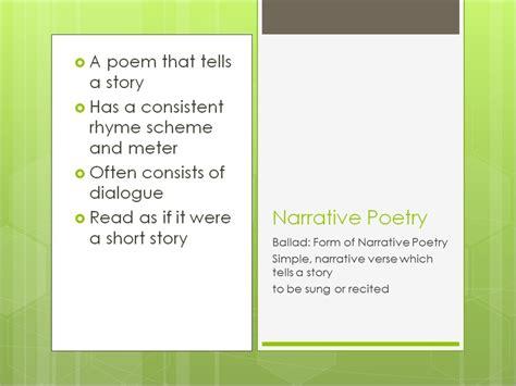 Narrative Poem Definition For Kids Google Search