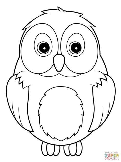coloring page snowy owl how to draw a cute snowy owl for kids google search