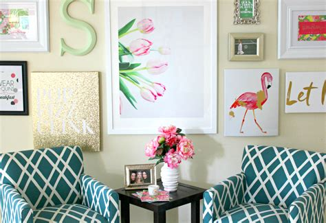 wall decor collage lilly pulitzer inspired wall art collage diary of a