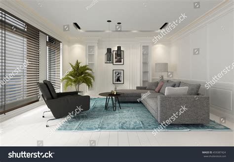 large comfortable modern sitter interior with and seating comfortable modern white living room interior stock