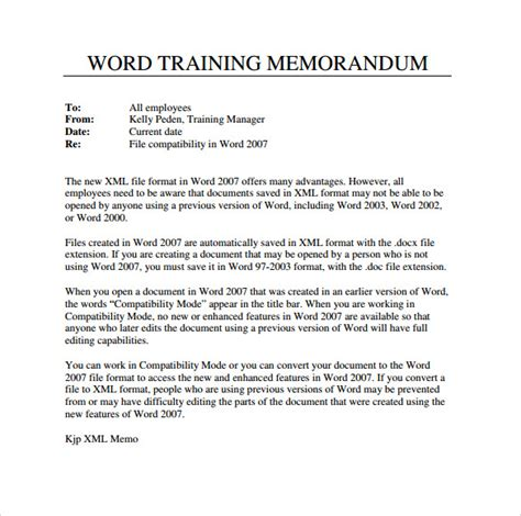 memo template for word sle word memo 5 documents in pdf