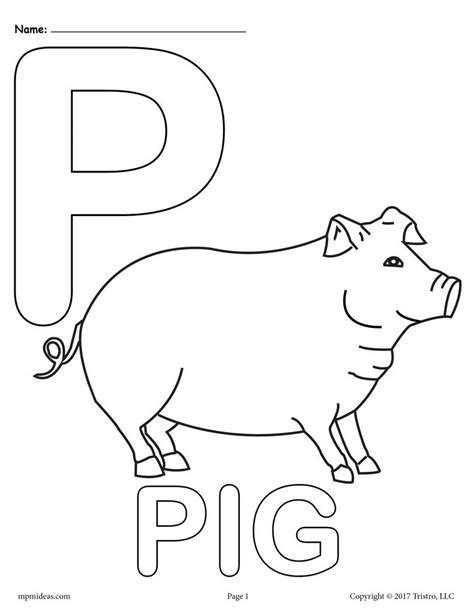 Letter P Coloring Pages Kindergarten by Letter P Alphabet Coloring Pages 3 Free Printable