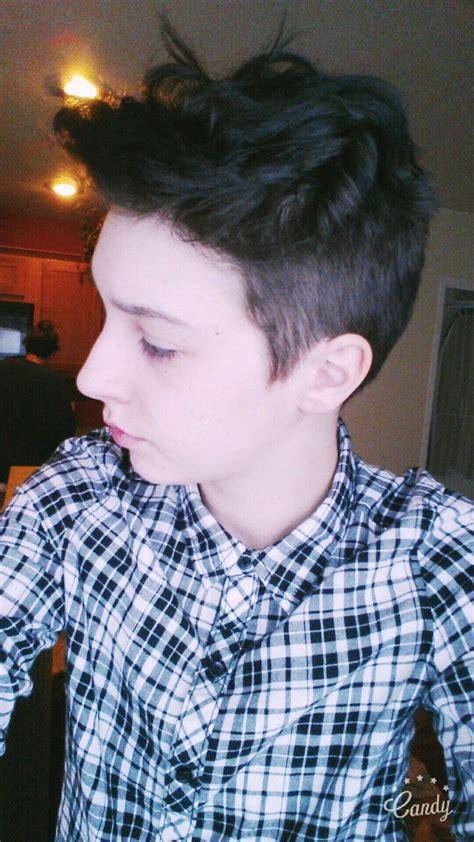 hair tutorial tumblr tomboy ftm hair tumblr hair pinterest haircuts hair cuts