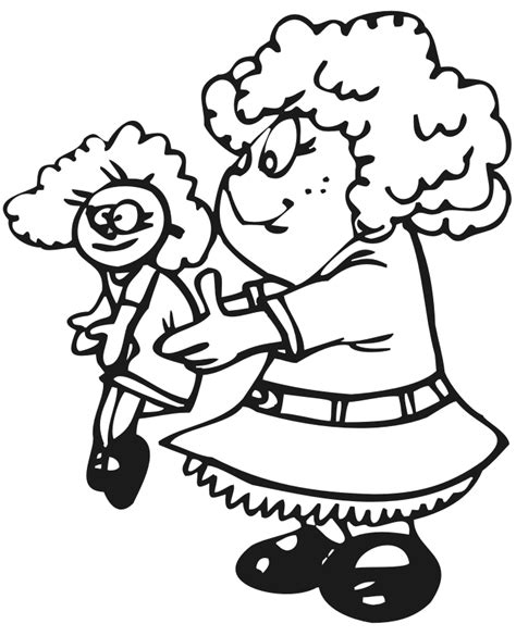 little girl coloring with crayons coloring pages