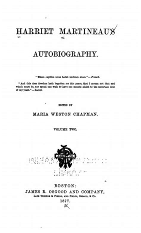 biography title harriet martineau s autobiography vol 2 and memorials of