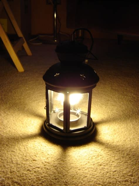 convert a tea light lantern to compact fluorescent 6 steps