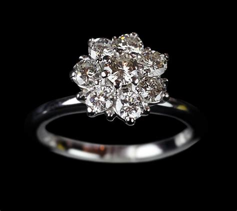 white gold cluster rings quotes