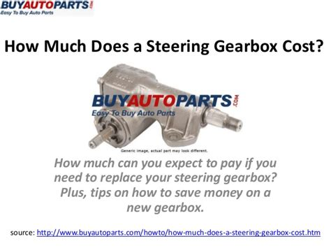 how much does a steering gearbox cost