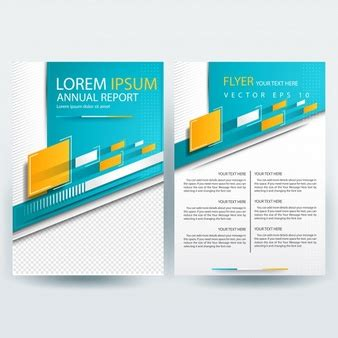 yellow business brochure template with geometric shapes teal vectors photos and psd files free download