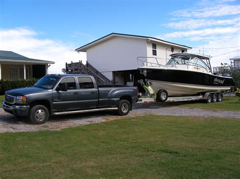 Truck Boat Trailer by Towing Large Boats The Hull Boating And Fishing