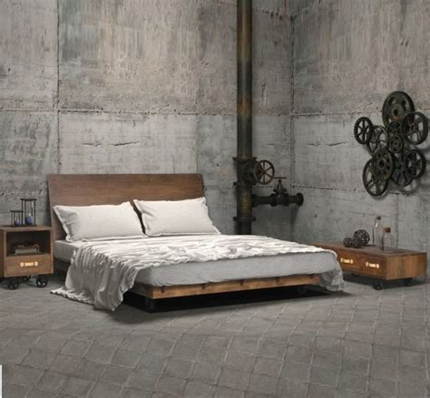 industrial bedroom furniture industrial loft bedroom