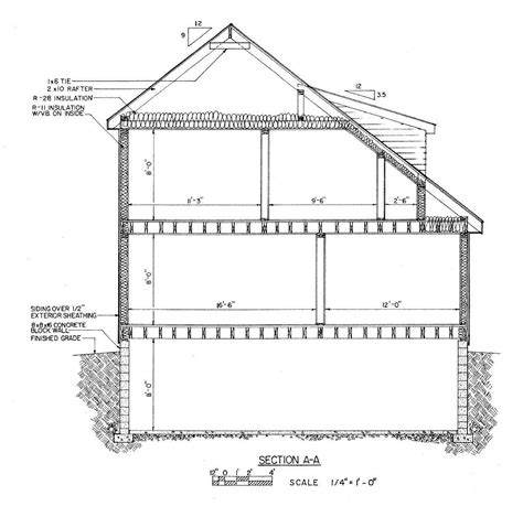 What Is A Section Plan by Cross Section House Plans
