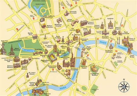 printable map london city centre large detailed tourist map of london city center london