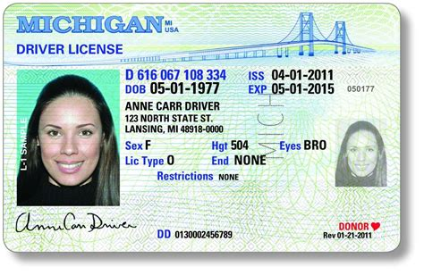 Michigan Drivers License To Sport New Look Added Security Features Mlive Com State Id Templates Free