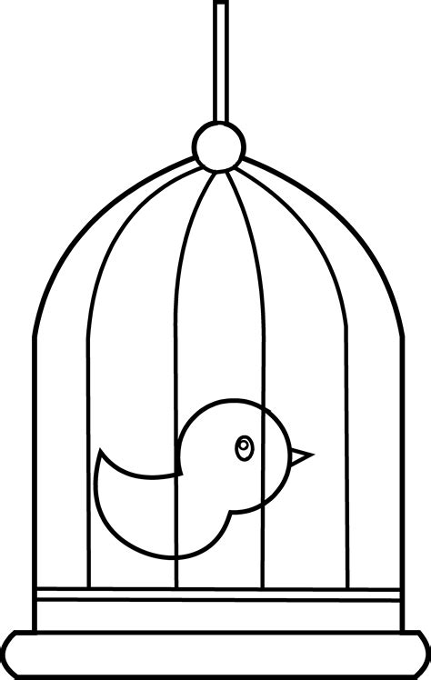 coloring pages of bird cages bird in cage coloring page free clip art