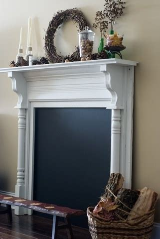 diy chalk paint fireplace faux fireplace like the chalk paint idea ourhome