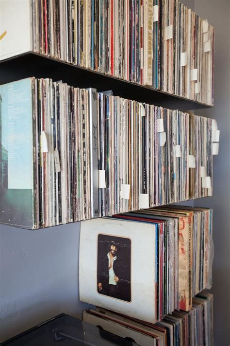 floating metal record shelves zimm metalworks creative