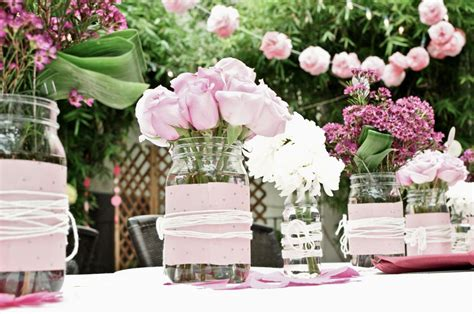Garden Wedding Ideas Decorations Outdoor Wedding Reception Table Decorations