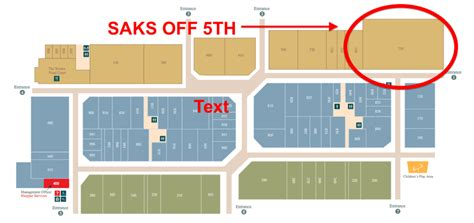 Saks The Rack Locations by Floorplan Tanger Outlet Ottawa Click Image For Entire Directory