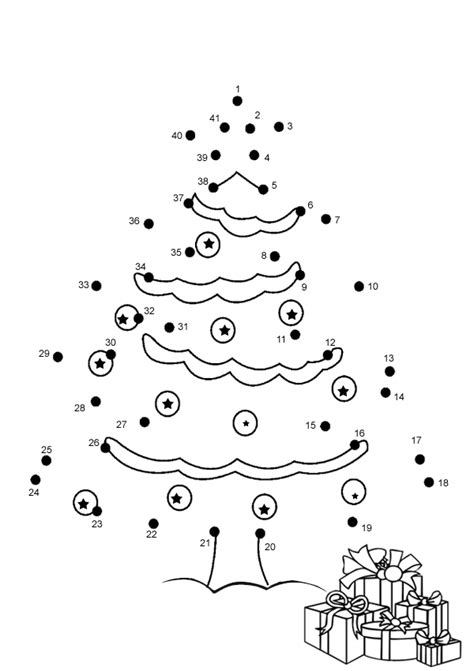 free online printable kids games christmas tree dot to dot