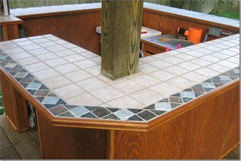 tile bar top ideas outdoor bar top options tiki central