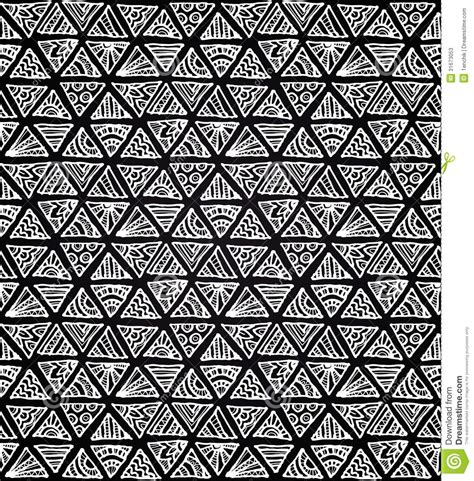 black and white hand pattern ornate hand drawn black and white triangles stock photos