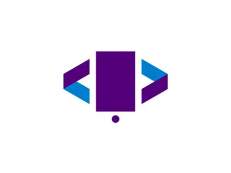 design a logo on your phone apps developer logo design symbol phone coding brackets