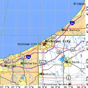 Map Of Indiana And Michigan by Michigan City Indiana In Population Data Races
