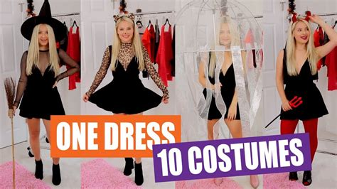 black dress halloween costume ideas youtube