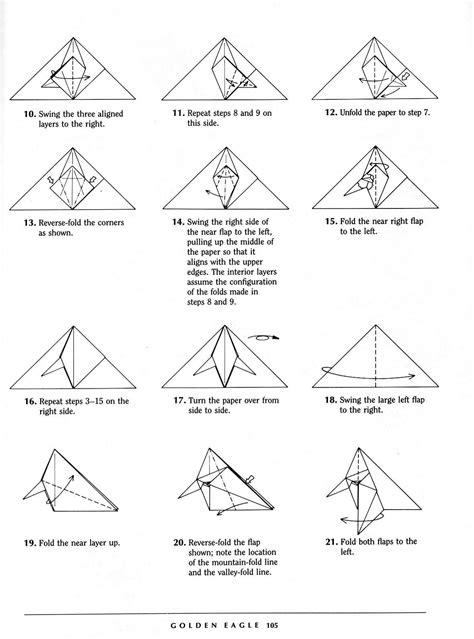 onoy origami cara membuat origami elang eagle