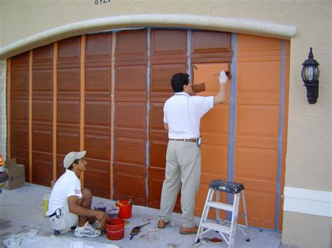 How To Paint A Metal Garage Door by How To Paint A Garage Door For Service